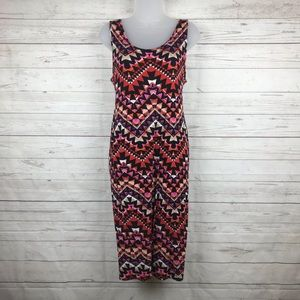 Lily White Multi Color Dress Size XL Made in USA